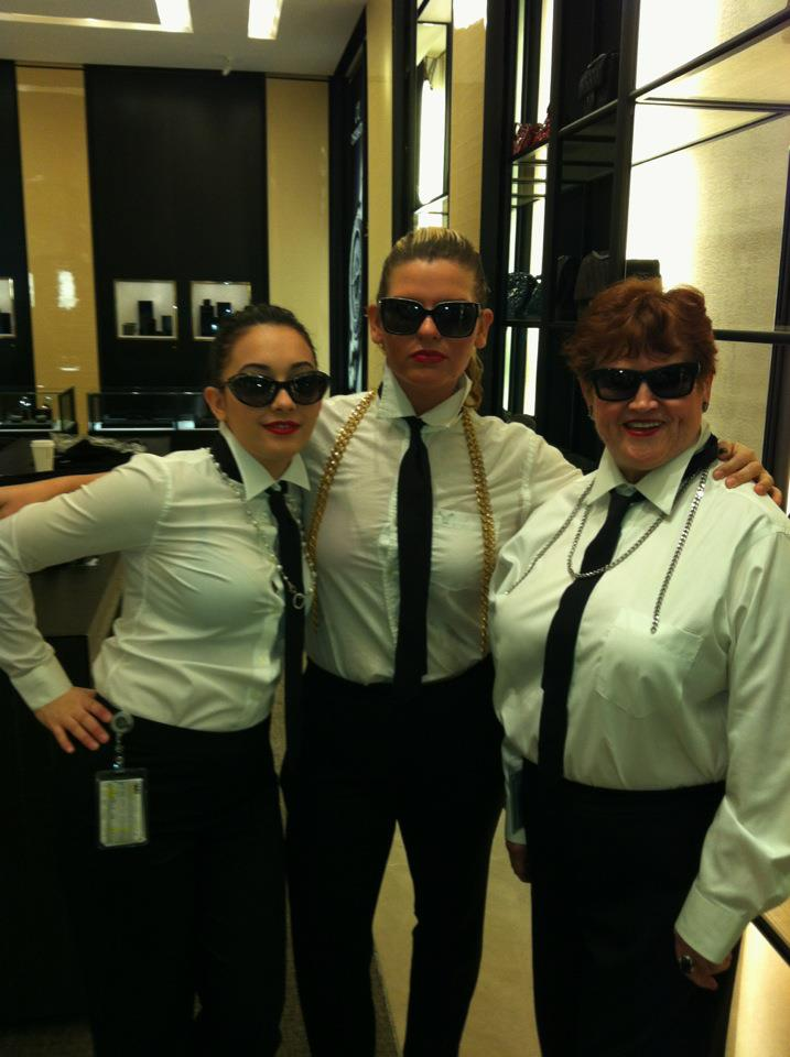 Dressed up as Karl Lagerfeld for work.. only at Chanel ;-)