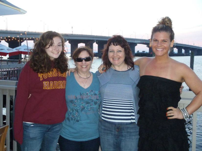 My mom's best friend and her daughter Sam, and my mom and I! LOVE these girls!!