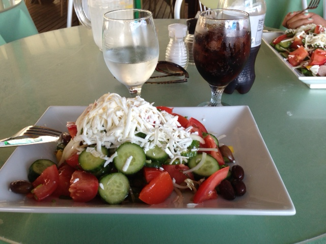 AMAZING greek salad on the boardwalk at Brighton Beach
