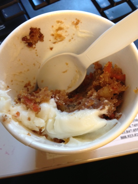 Carrot cake in a cup!! I die.
