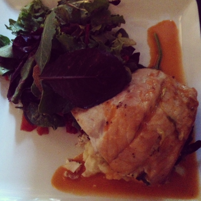 Crab stuffed red snapper. Was feeling super crabby that night ;) #Weird.