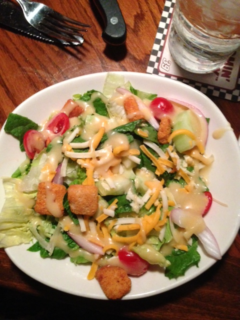 House salad with honey must <3