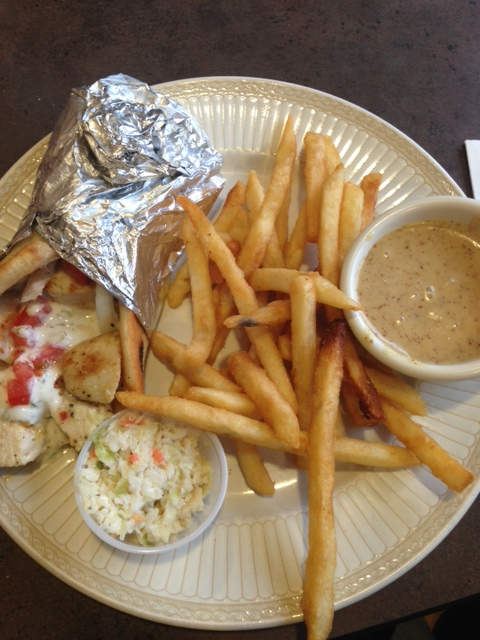 chicken gyro pita with the best fries ever!