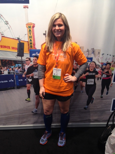 Fulfilling my volunteer credit at the marathon expo