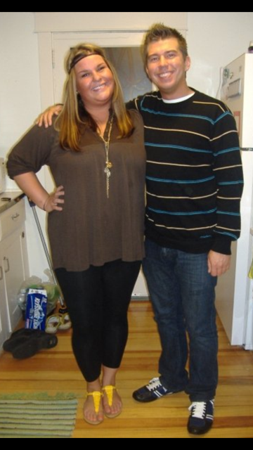 Shortly after we moved into our 2nd apartment. I had gained all the weight back I had lost in the summer. It's so crazy for me to see this because at this point I don't even remember being this big!