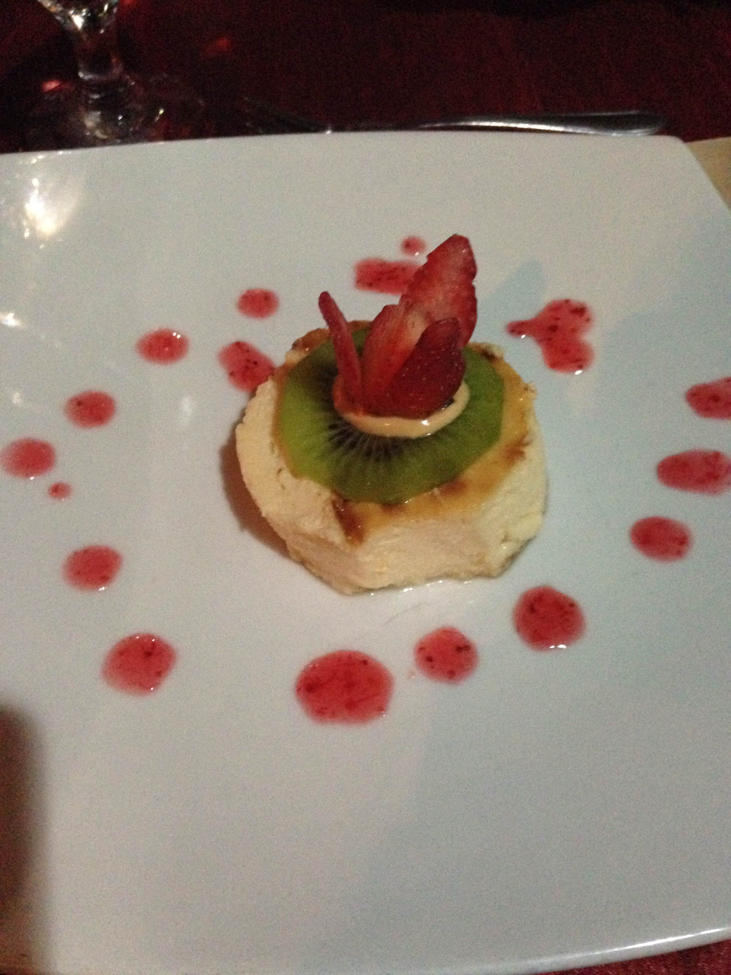 Very light, whipped cheesecake for dessert
