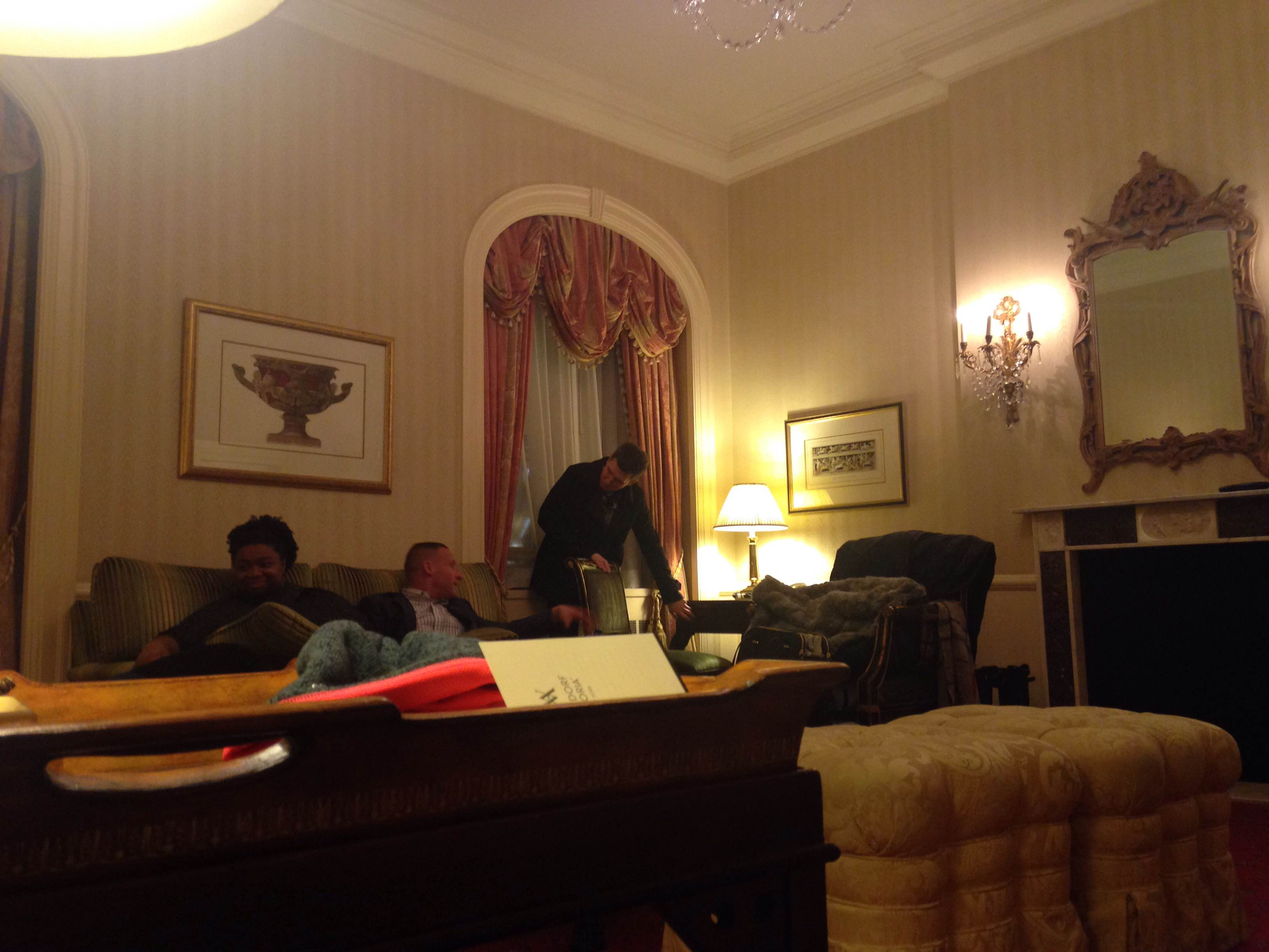 Part of the amazing suite at the Waldorf Astoria!