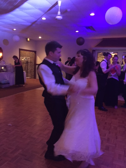 John and my mom dancing!