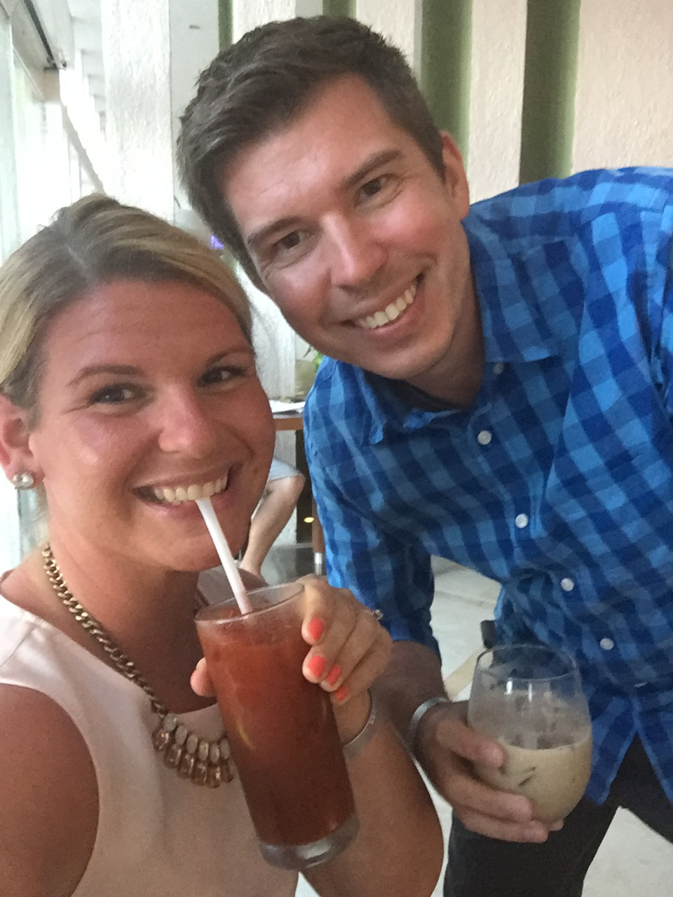 Our drinks of choice on vaca.. bloody marys and white russians, which couldnt be more random for either of us haha
