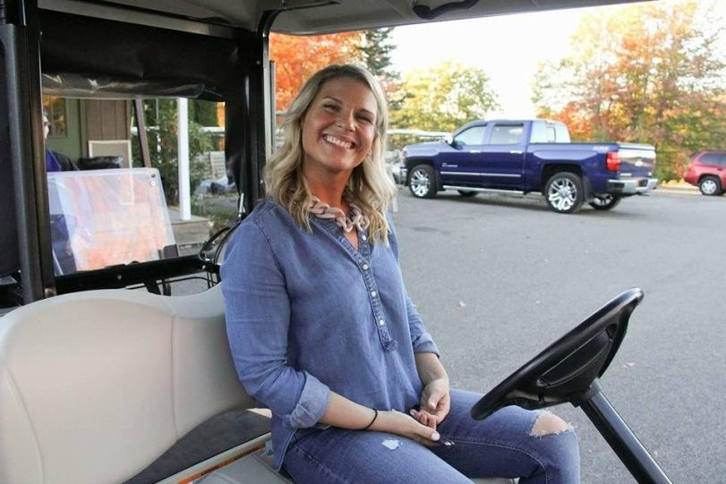 The golf carts were sooooo fun